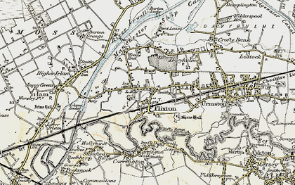 Old map of Flixton in 1903