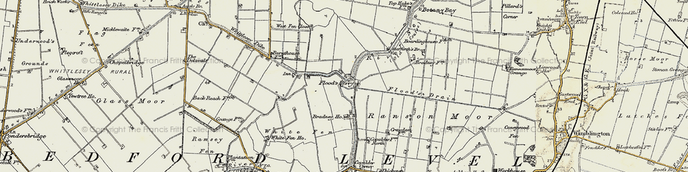 Old map of White Fen in 1901