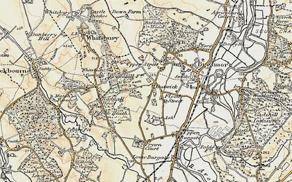 Old map of Whitsbury Common in 1897-1909