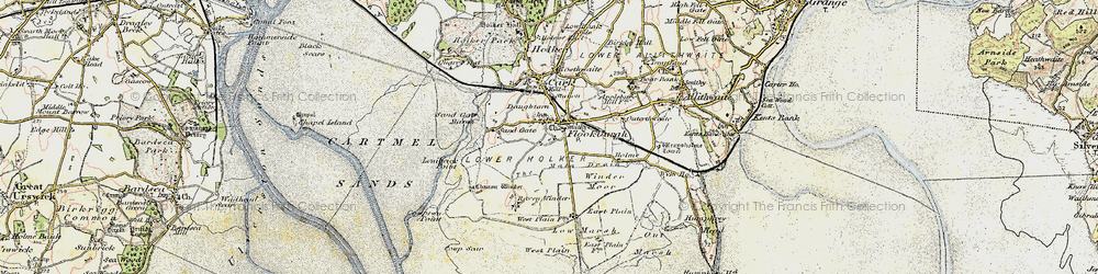 Old map of Winder Moor in 1903-1904
