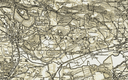 Old map of North Bardowie in 1904-1907