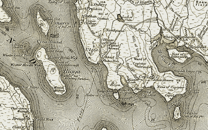 Old map of Wester Hevda Wick in 1912