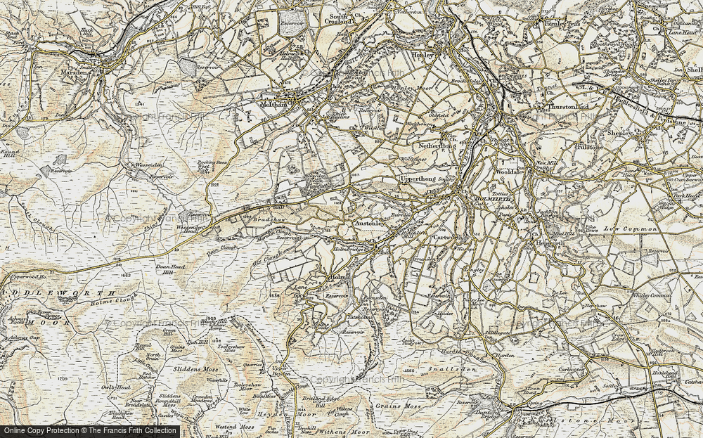Old Map of Historic Map covering Wood Cottage in 1903