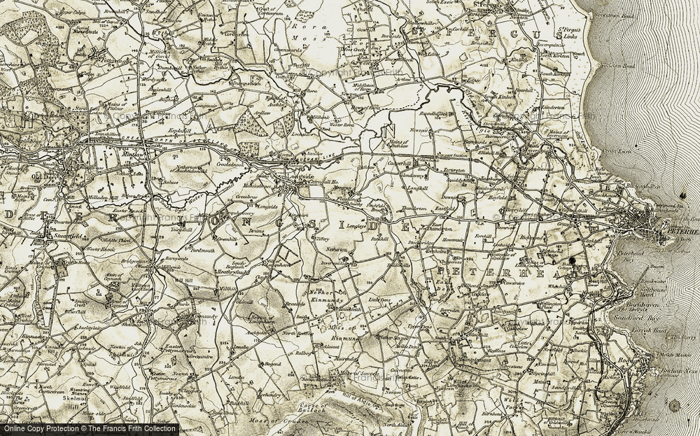 Old Map of Historic Map covering Tiffery in 1909-1910