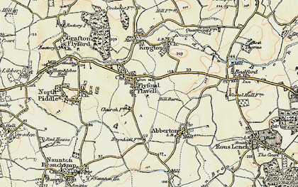 Old map of Wychavon Way in 1899-1902