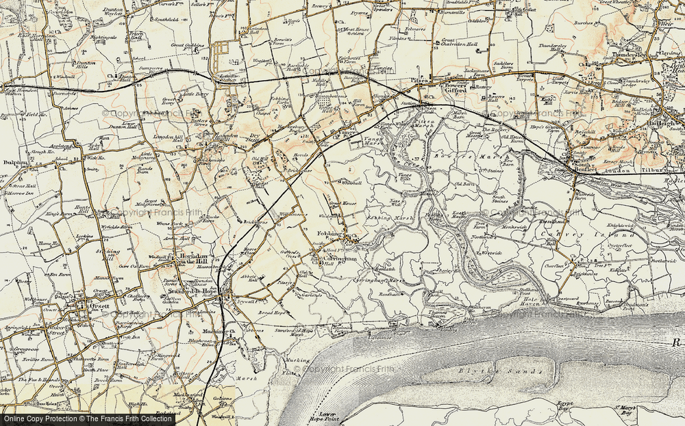 Old Map of Fobbing, 1897-1898 in 1897-1898