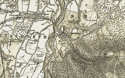 Old map of Leitch's Wood in 1910