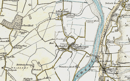 Old map of Fockerby in 1903