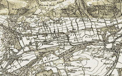 Old map of Fodderty in 1911-1912