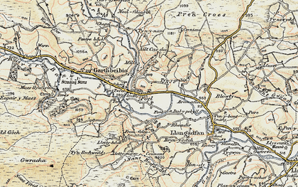 Old map of Allt Cae-dû in 1902-1903