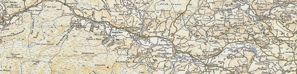 Old map of Y Fron in 1902-1903
