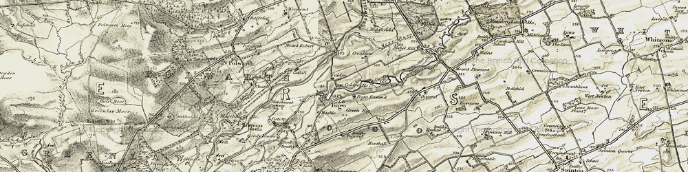 Old map of Whinkerstones in 1901-1904