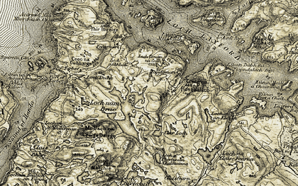 Old map of Foindle in 1910
