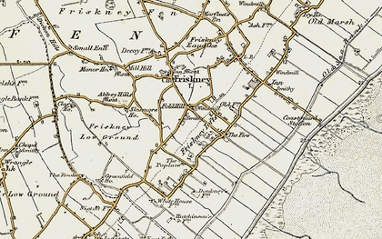 Old map of Abbey Hills in 1901-1903