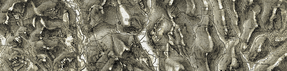Old map of Altaltan in 1907-1908