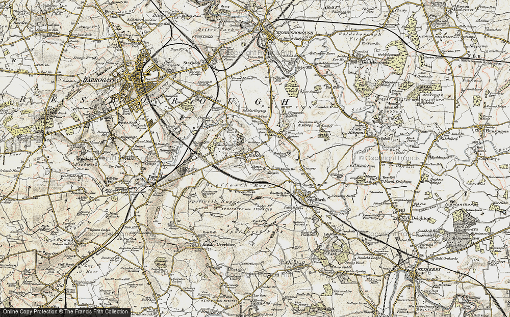 Old Map of Historic Map covering Aketon in 1903-1904