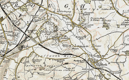 Old map of Aketon Lodge in 1903-1904