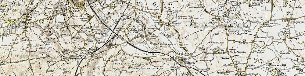Old map of Aketon Lodge in 1903-1904