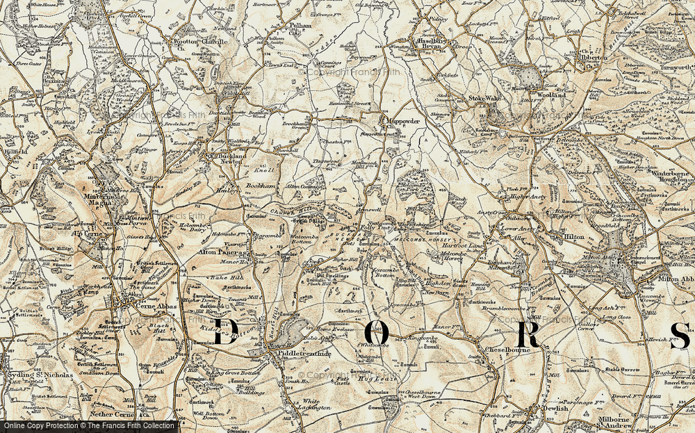 Old Map of Historic Map covering Ball Hill in 1897-1909