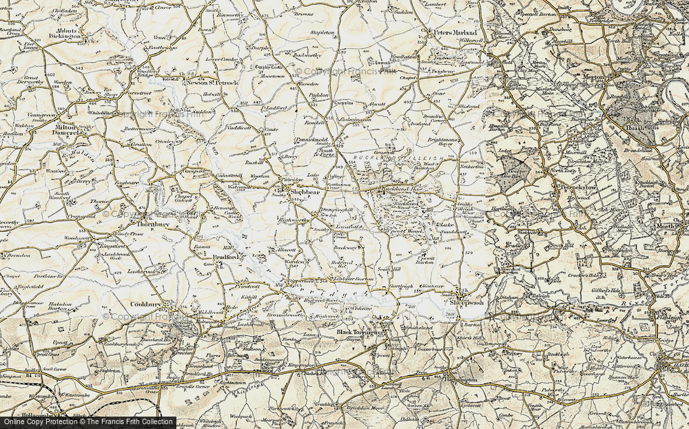 Old Map of Historic Map covering Backway in 1900