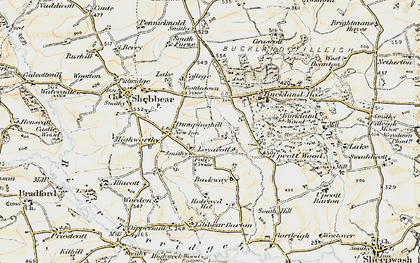 Old map of Backway in 1900
