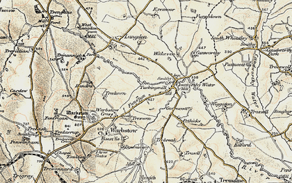 Old map of Fonston in 1900