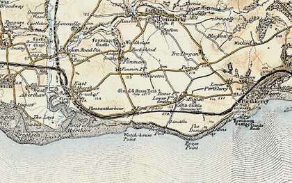 Old map of Font-y-gary in 1899-1900