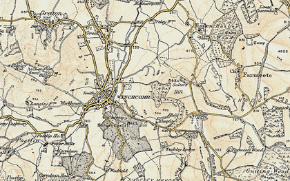 Old map of Sudeley Castle in 1899-1900