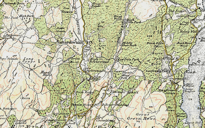 Old map of Ausin Fell Wood in 1903-1904