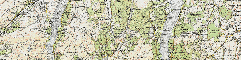 Old map of Thwaite Head Fell in 1903-1904