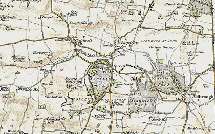 Old map of Forcett in 1903-1904