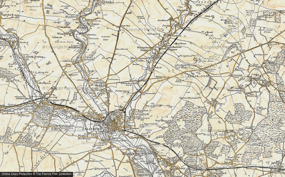 Old Map of Ford, 1897-1898 in 1897-1898