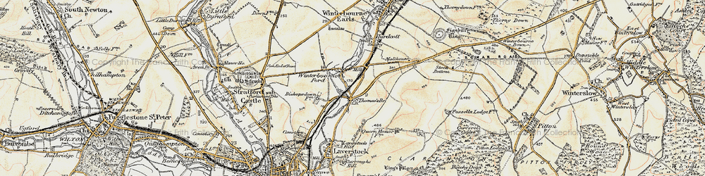 Old map of Ford in 1897-1898