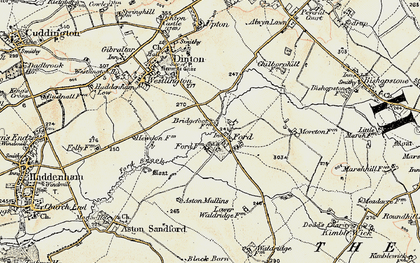 Old map of Aston Mullins in 1898