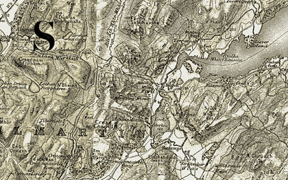 Old map of Liever Island in 1906-1907