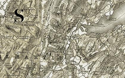 Old map of An Lodan in 1906-1907