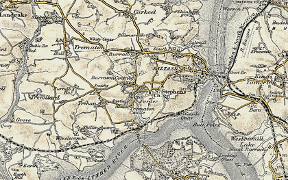 Old map of Forder in 1899-1900