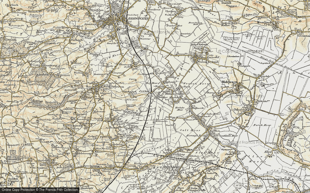 Old Map of Fordgate, 1898-1900 in 1898-1900