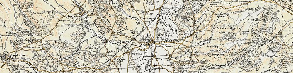 Old map of Fordingbridge in 1897-1909