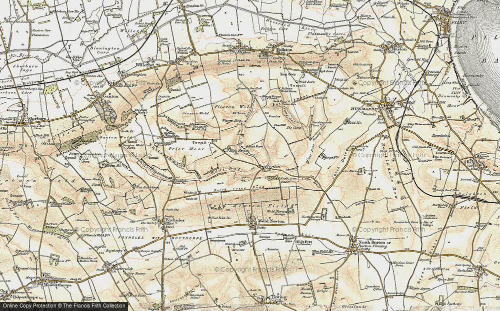 Old Map of Historic Map covering Lang Dale in 1903-1904