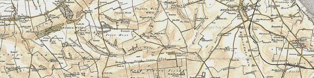 Old map of Lang Dale in 1903-1904