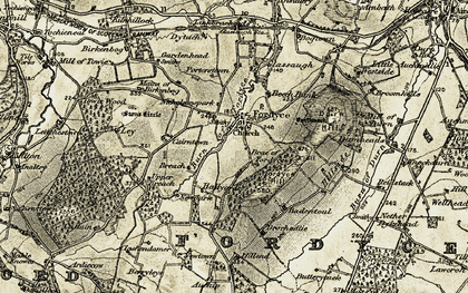 Old map of Auchip in 1910