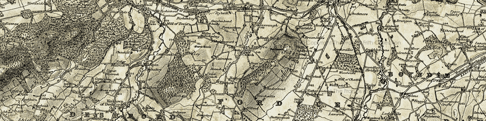 Old map of Fordyce in 1910