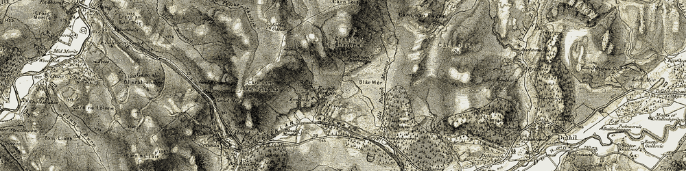 Old map of Allt Ruighe Magaig in 1908-1912