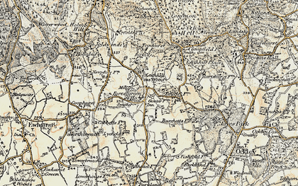 Old map of Forest Green in 1898-1909