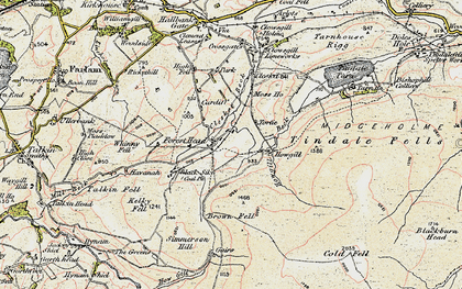 Old map of Tindale Fells in 1901-1904