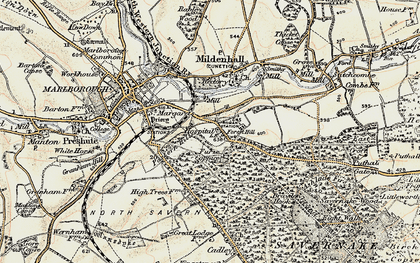 Old map of Forest Hill in 1897-1899
