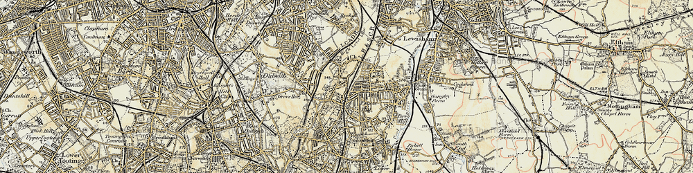 Old map of Forest Hill in 1897-1902