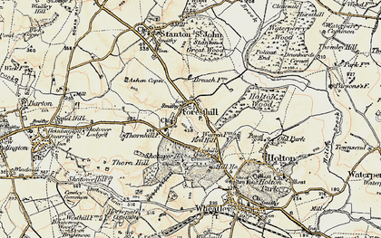 Old map of Forest Hill in 1898-1899