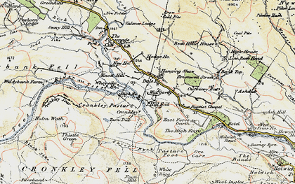 Old map of White Well in 1904